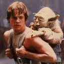 Yoda on Luke's Back