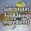 Substitutes for Baking Ingredients