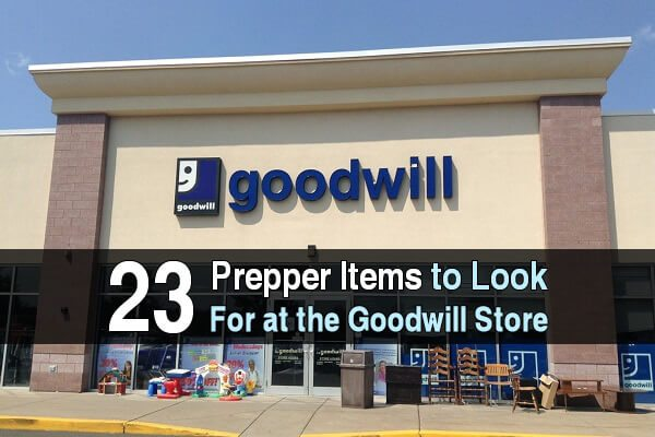 23 Prepper Items To Look For at the Goodwill Store