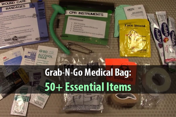 Grab-N-Go Medical Bag: 50+ Essential Items