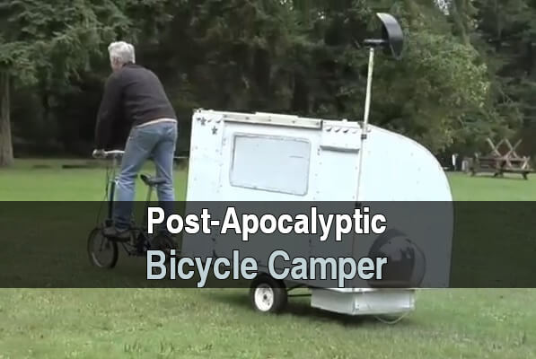 Post-Apocalyptic Bicycle Camper