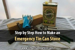 Step by Step How to Make an Emergency Tin Can Stove