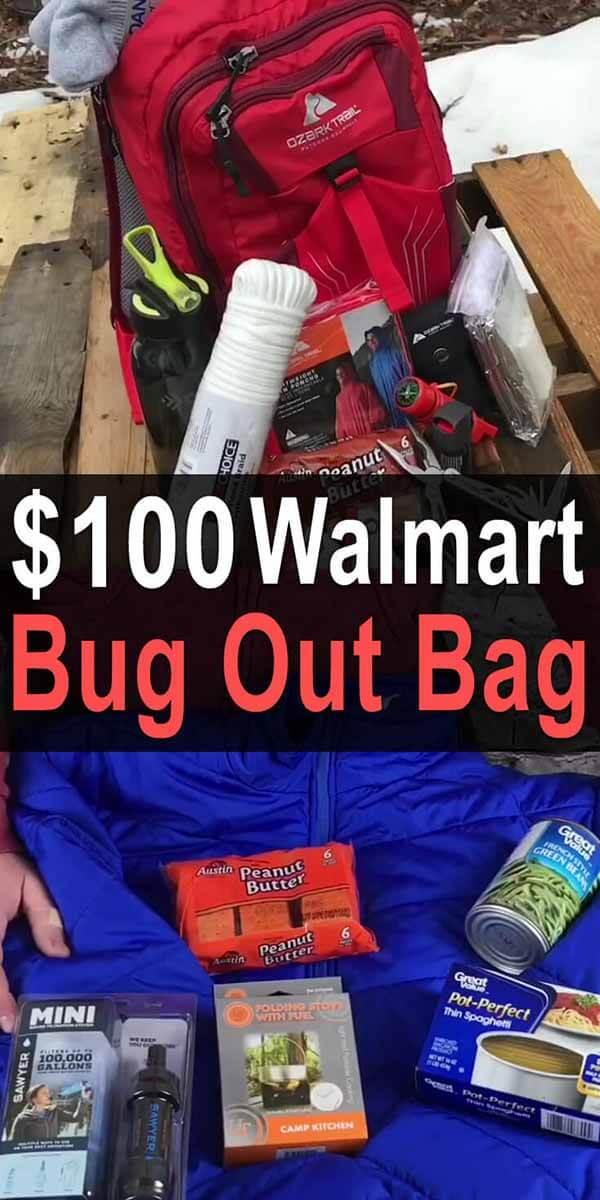 $100 Walmart Bug Out Bag