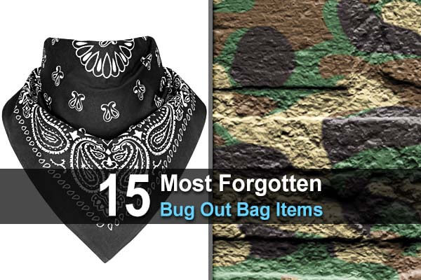 15 Most Forgotten Bug Out Bag Items