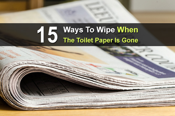 15 Ways To Wipe When The Toilet Paper Is Gone