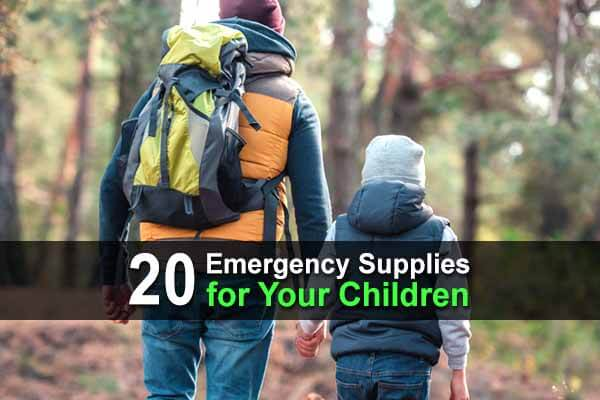 20 Emergency Supplies for Your Children