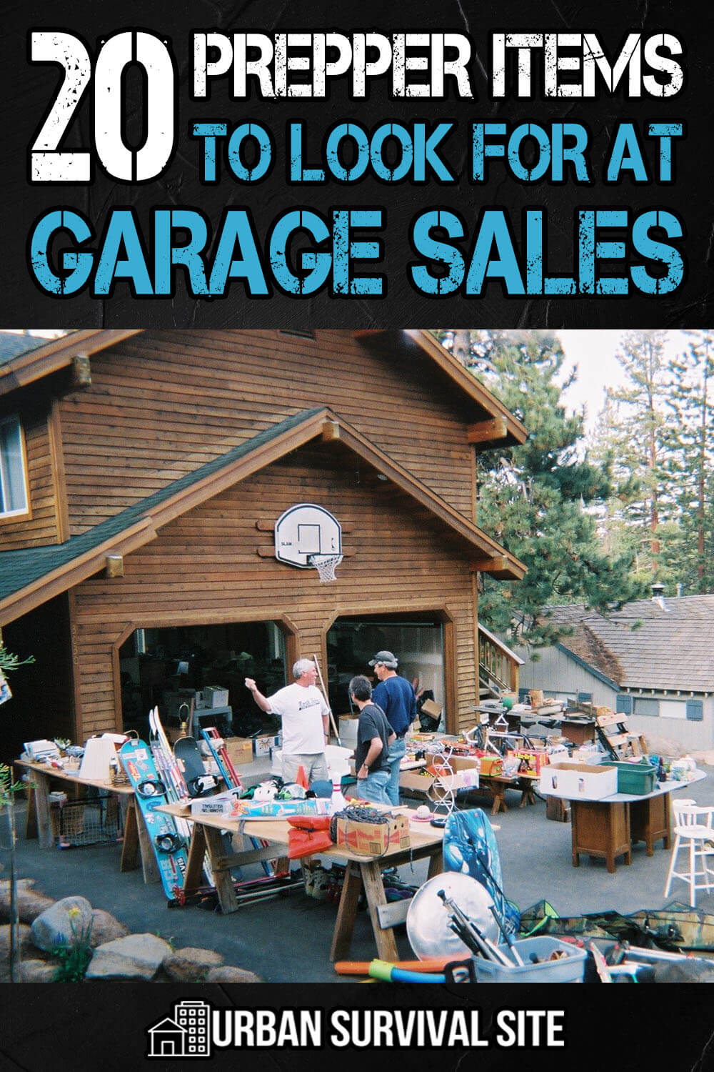 20 Prepper Items To Look For At Garage Sales