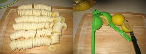 Dehydrating Bananas 1