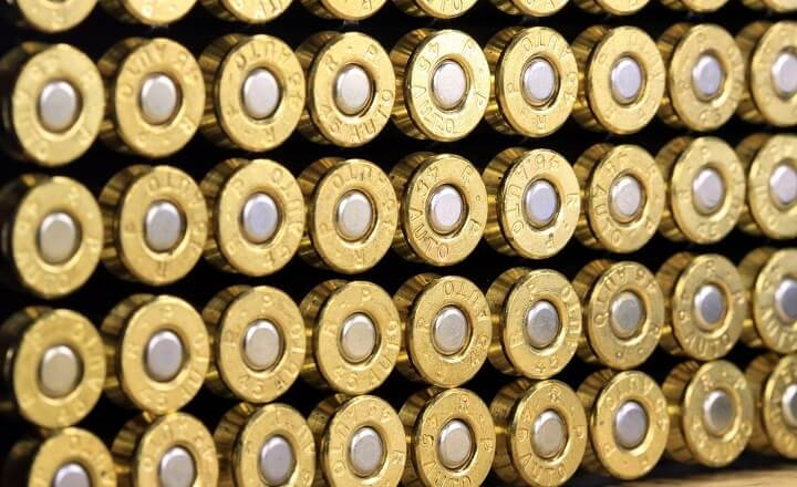 .45 Caliber Ammunition Rows