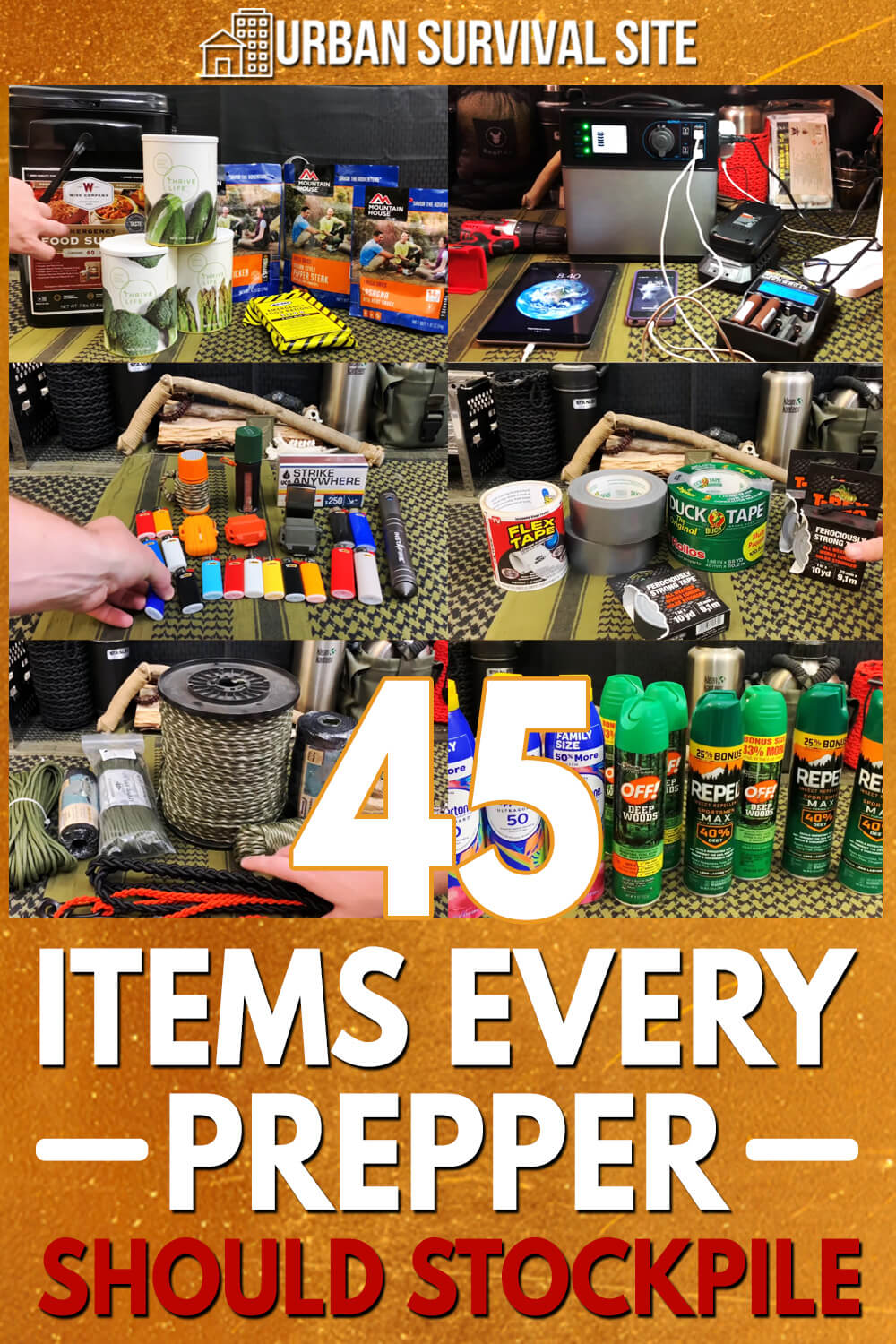 45 Items Every Prepper Should Stockpile