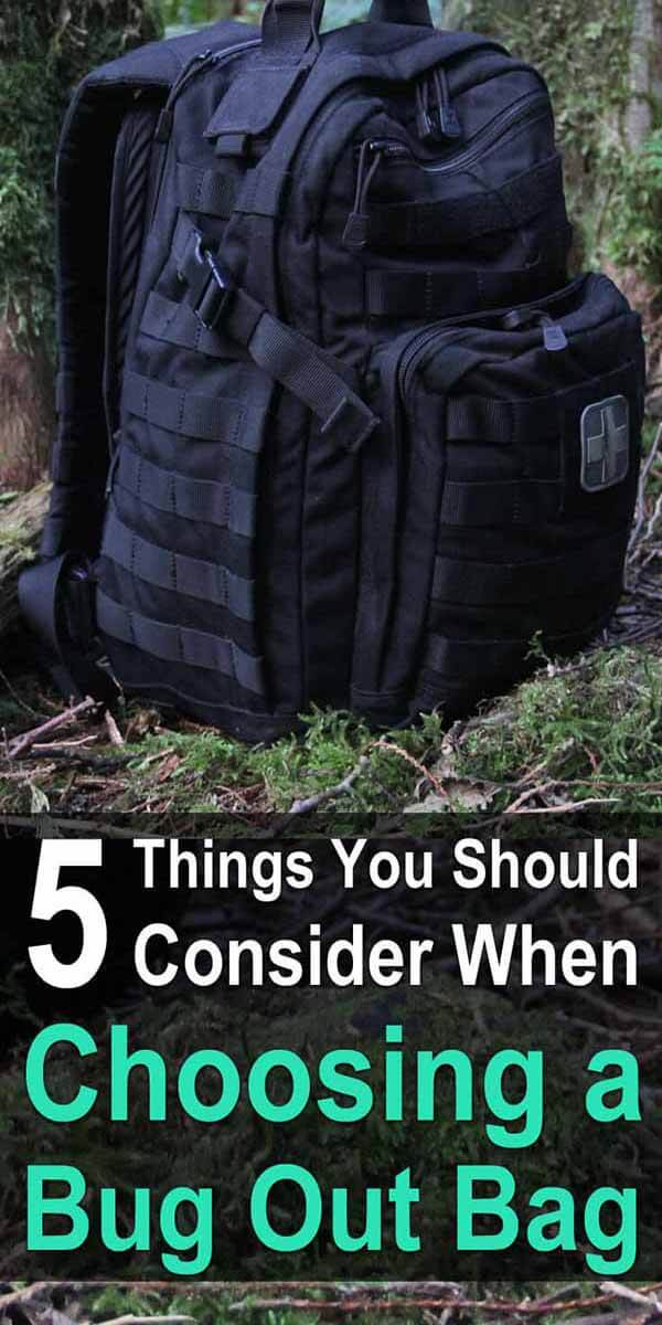 5 Things to Consider When Choosing a Bug Out Bag