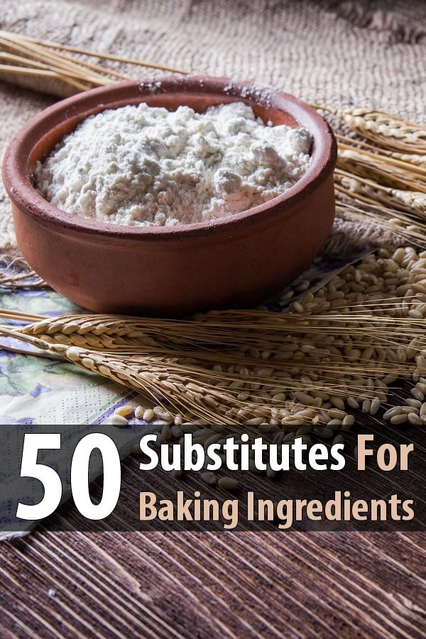 50 Substitutes for Baking Ingredients
