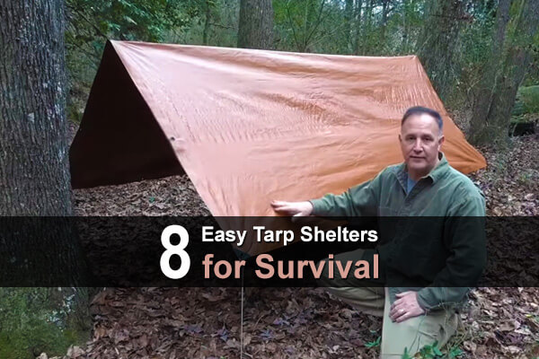 8 Easy Tarp Shelters for Survival