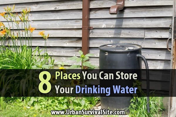 8 Places You Can Store Your Drinking Water