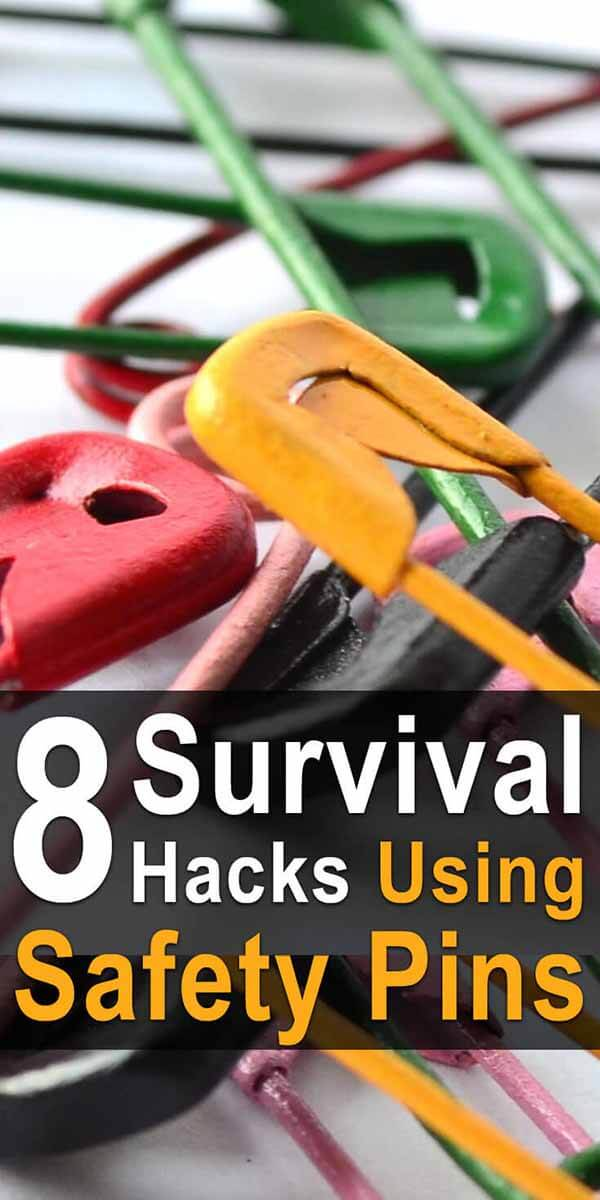 8 Survival Hacks Using Safety Pins