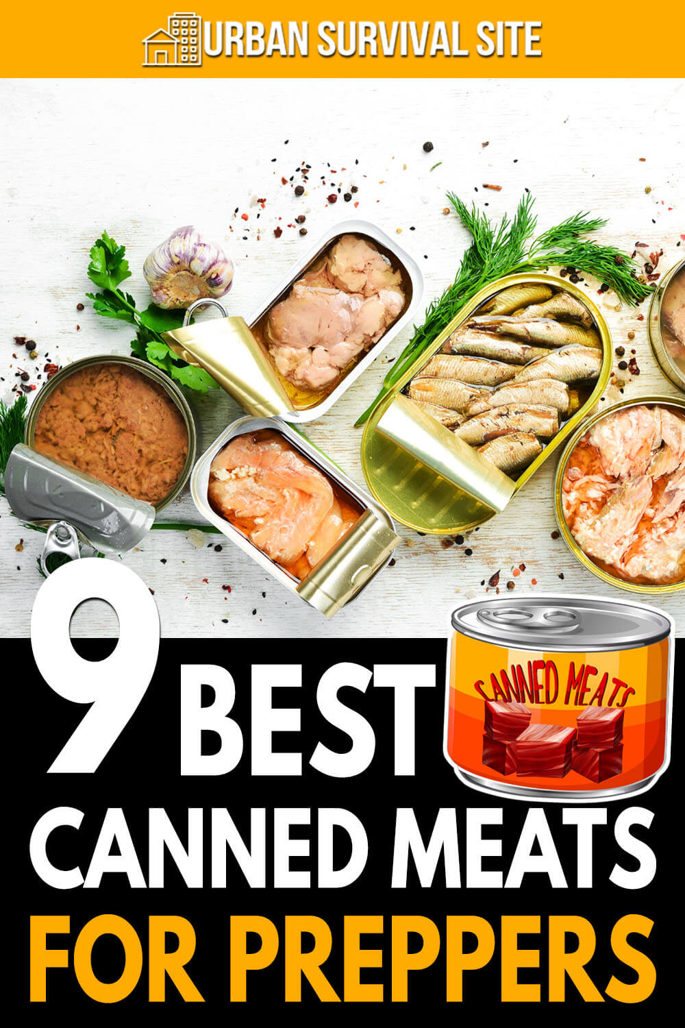 9 Best Canned Meats for Preppers