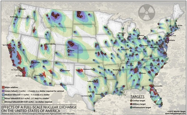 U.S. Target Areas for Nuclear Attack