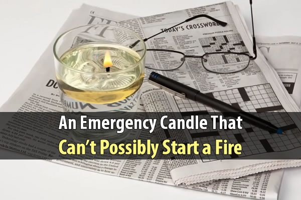 An Emergency Candle That Can't Possibly Start a Fire
