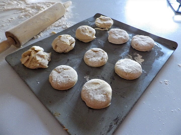Biscuits Ready For Oven Detail
