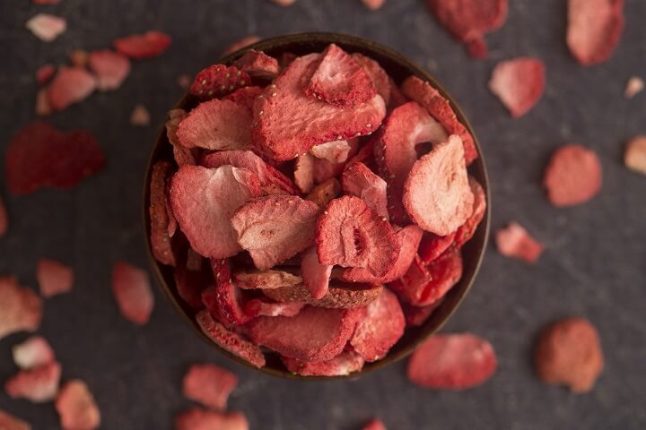 Bowl Of Freeze-Dried Strawberries