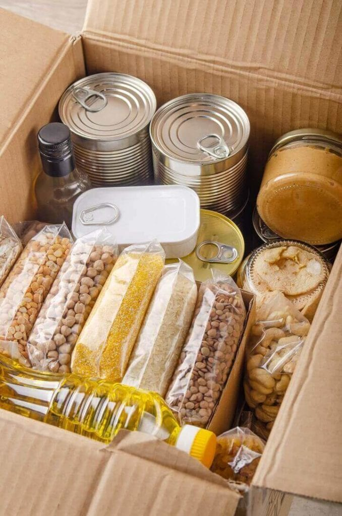 Box Filled With Emergency Food
