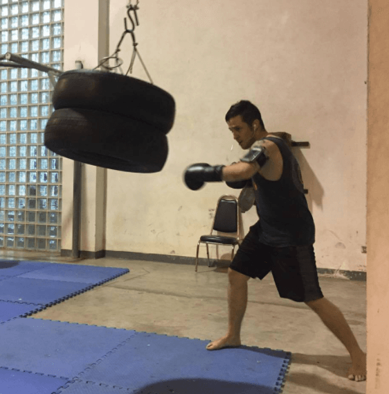 Boxing Punching Bag Made Of Tires