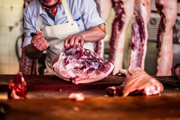 Butchering Meat