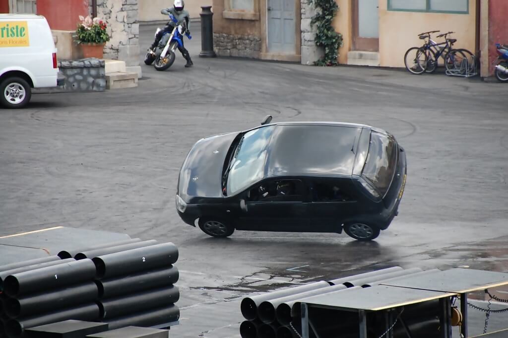 Car Tipping Over