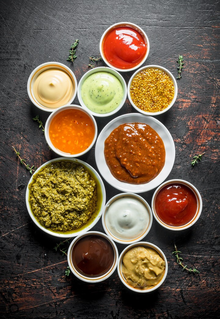 Condiments in Bowls