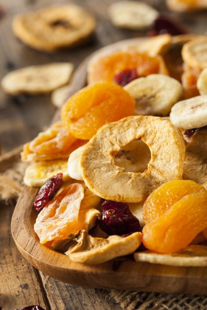 Dehydrated Fruit On A Plate