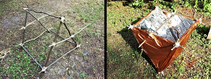 DIY Solar Reflector Oven Completed Frame / High Noon