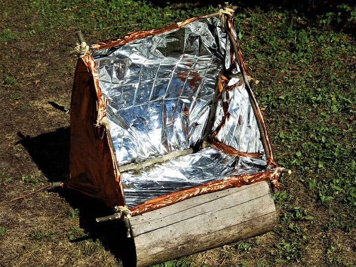 DIY Solar Reflector Oven Completed