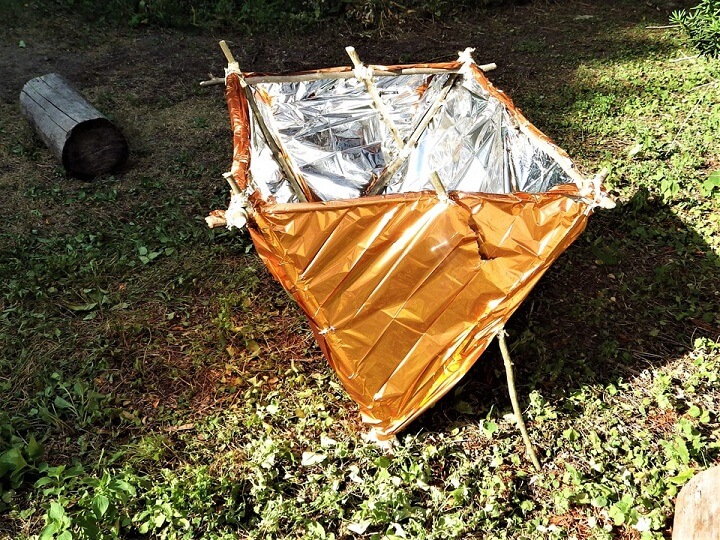 DIY Solar Reflector Oven High Noon Position
