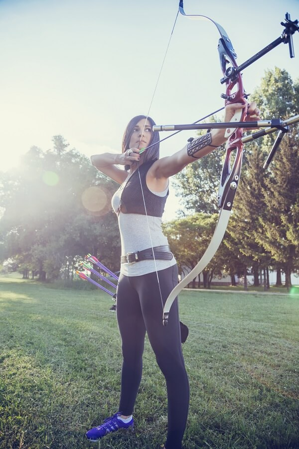 Female Archer Aiming