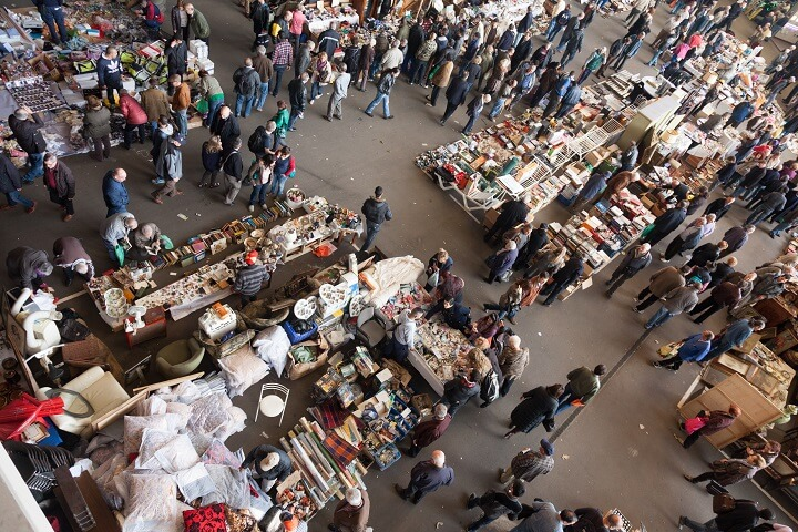 Flea Market From Overhead
