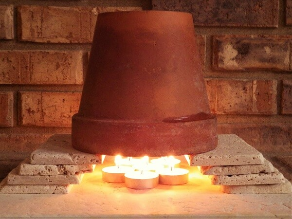 Flower Pot Tea Candle Heater