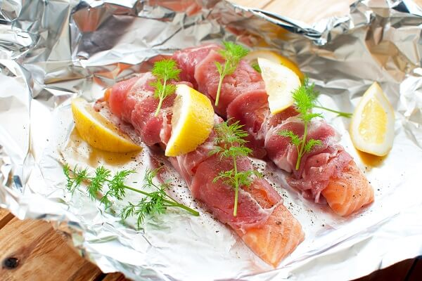 Foil Wrapped Salmon with Herbs