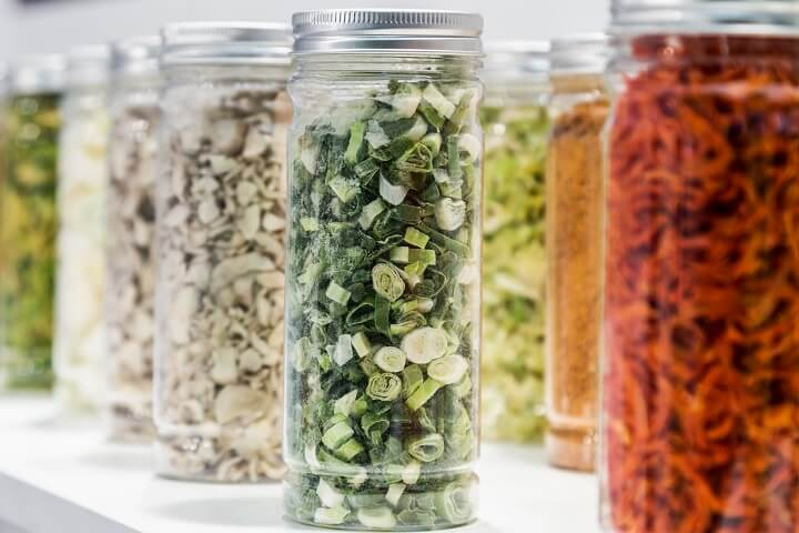 Freeze-Dried Food In Jars