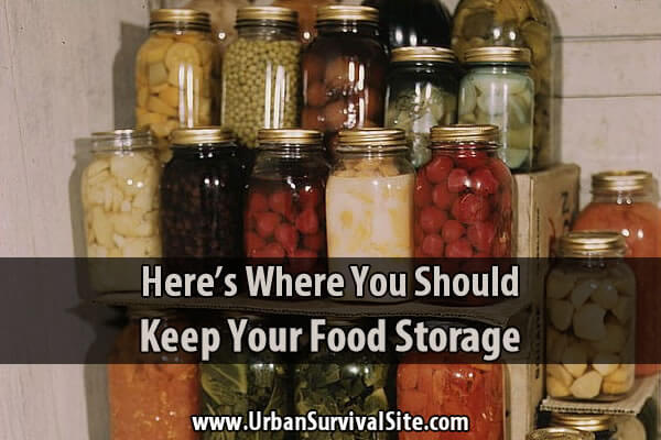 Here's Where You Should Keep Your Food Storage