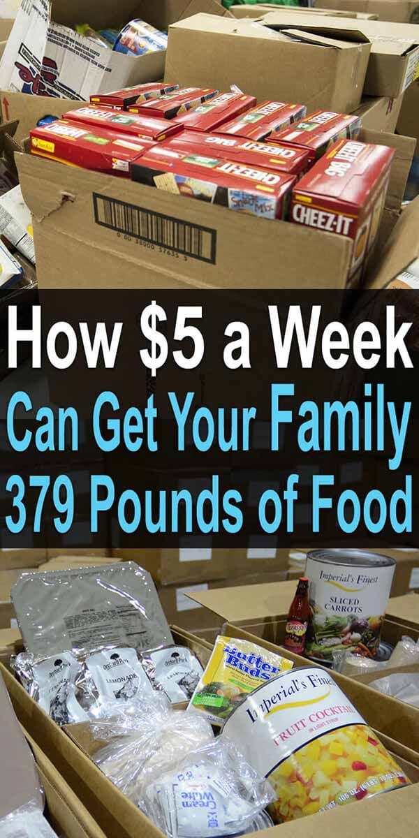 How $5 a Week Can Get Your Family 379 Pounds of Food