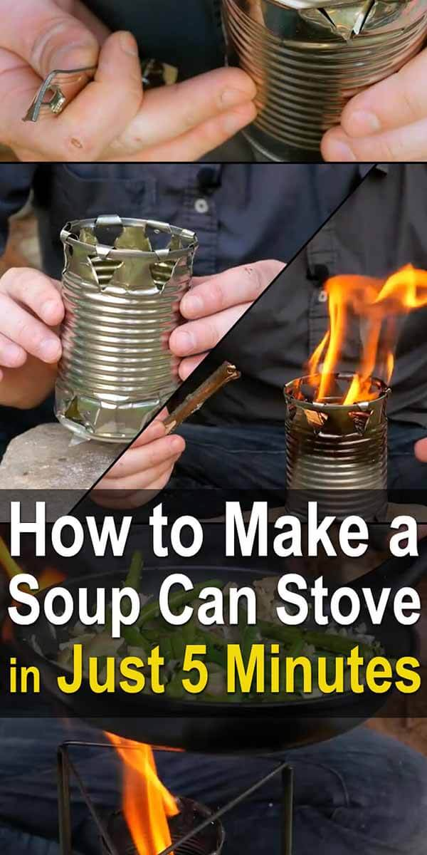 How to Make a Soup Can Stove in Just 5 Minutes