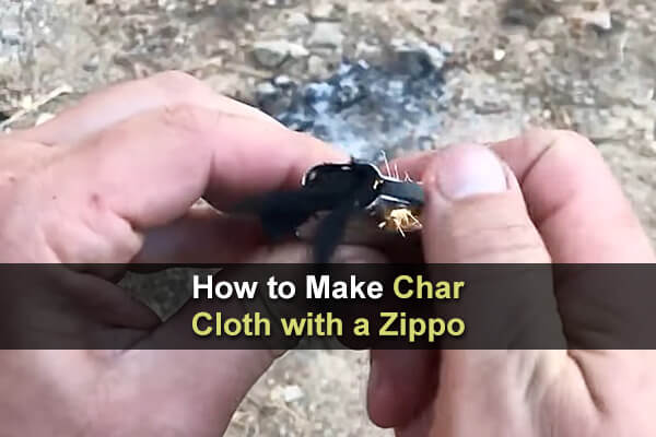 How to Make Char Cloth with a Zippo
