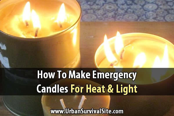 How to Make Emergency Candles for Heat and Light