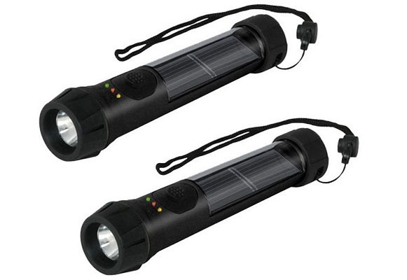 Hybrid Solar Powered Flashlight