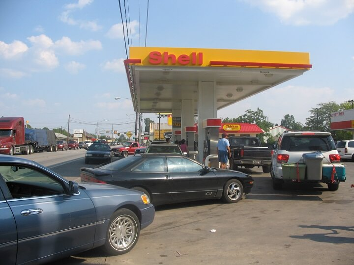 Lines At Gas Station