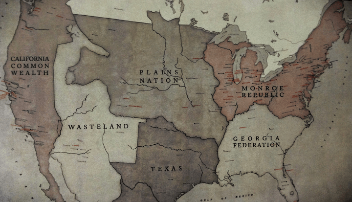 Map of United States with Six Territories