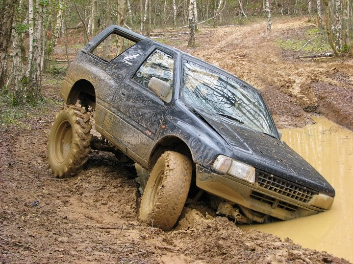 Off Roader Stuck In Mud