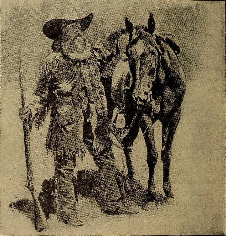 Old Illustration Of Man And Horse