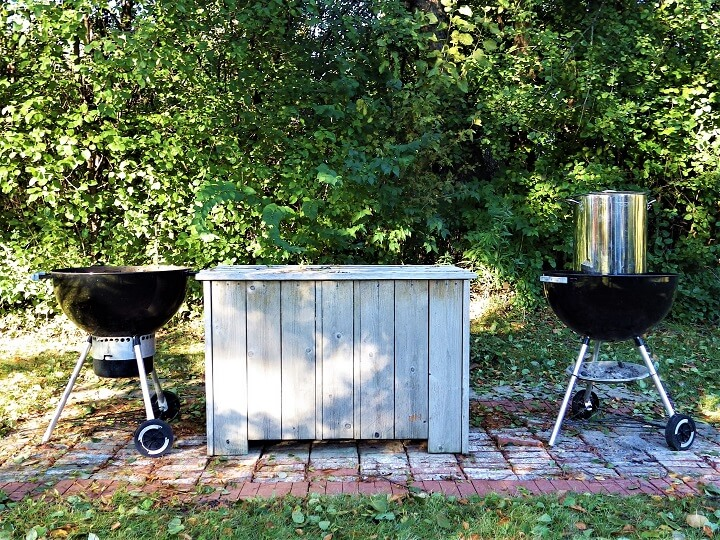 Outside Grills and Tables