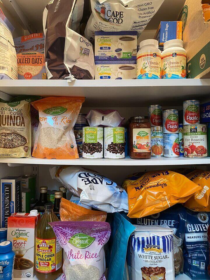 Pantry Filled With Emergency Food